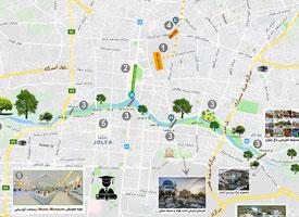 نقشه گردشگری اصفهان